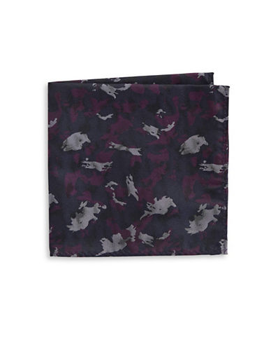 Image of 1670 Camo Pocket Square-BERRY-One Size