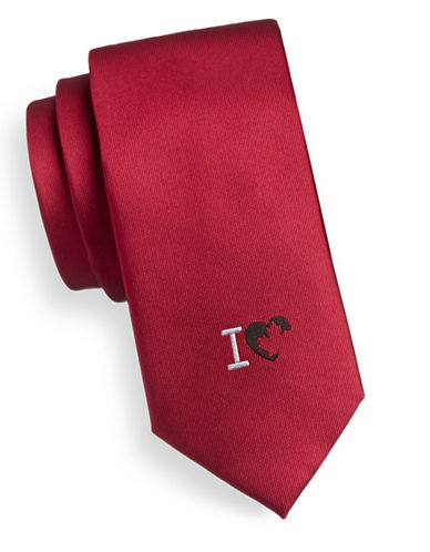 1670 I Love Canada Silk Tie-RED-One Size