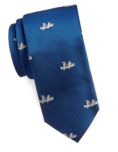 1670 Canoe Silk Tie-BLUE-One Size