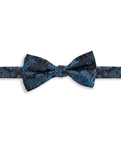 1670 Floral Silk Bow Tie-BLUE-One Size
