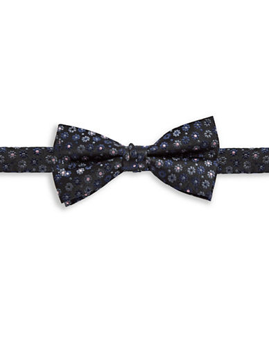 1670 Floral Silk Bow Tie-GREY-One Size