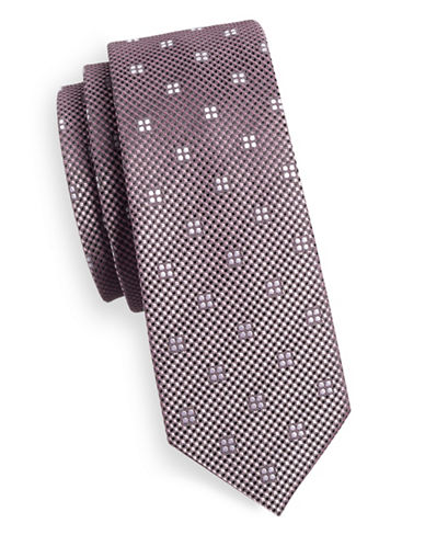 1670 Square Dot Neat Tie-PINK-One Size