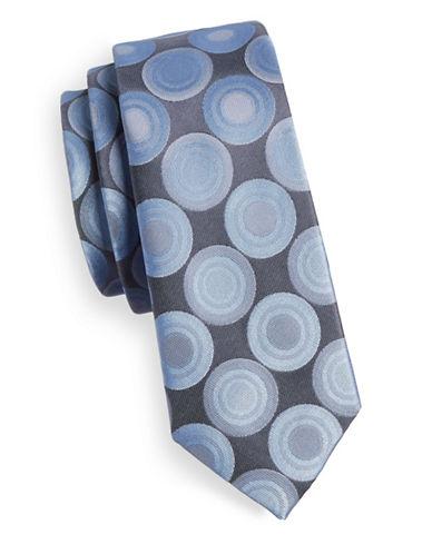 1670 Slim Geoprint Tie-GREY-One Size
