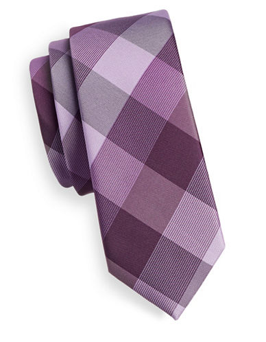 1670 Checkered Tie-PINK-One Size