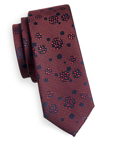 1670 Bubbles Tie-RED-One Size