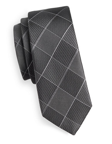 1670 Checkered Tie-BLACK-One Size
