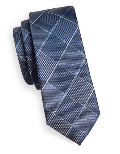 1670 Checkered Tie-BLUE-One Size