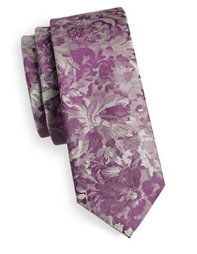 1670 Floral Tie-PURPLE-One Size