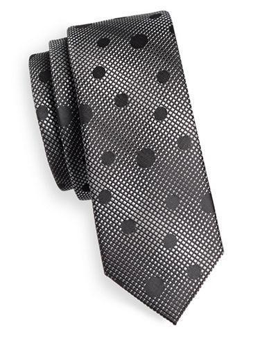 1670 Grid Polka Dot Tie-BLACK-One Size