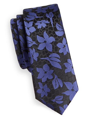 1670 Floral Tie-BLUE-One Size