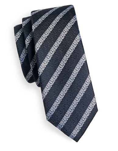 1670 Striped Tie-NAVY-One Size