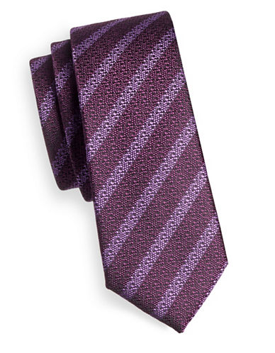1670 Striped Tie-PURPLE-One Size