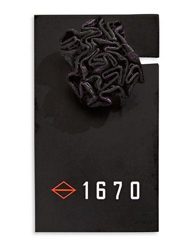 1670 Neat Jacquard Flower Lapel Pin-PURPLE-One Size