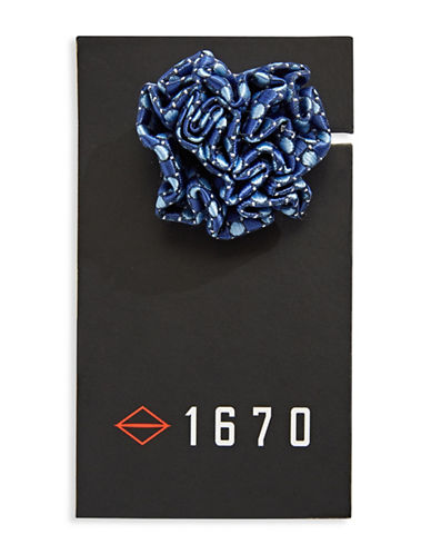1670 Dotted Flower Lapel Pin-BLUE-One Size