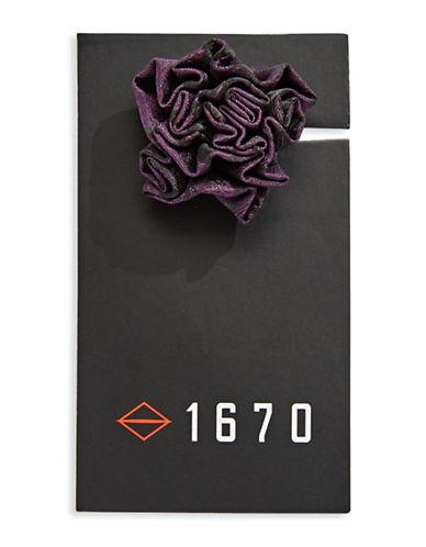 1670 Jacquard Flower Lapel Pin-PURPLE-One Size