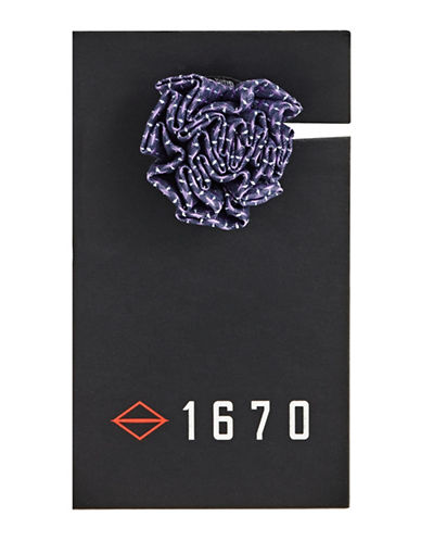1670 Flower Button Pin-PURPLE-One Size