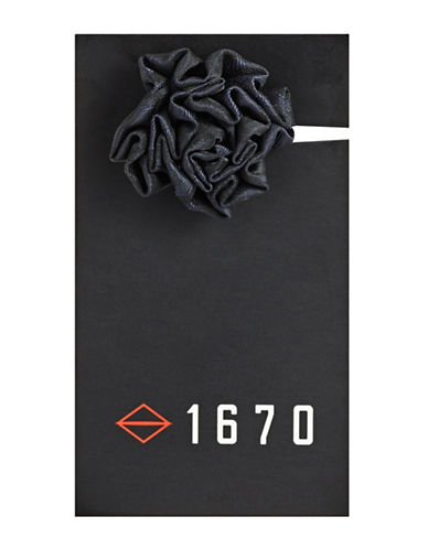 1670 Tonal Flower Lapel Pin-NAVY-One Size