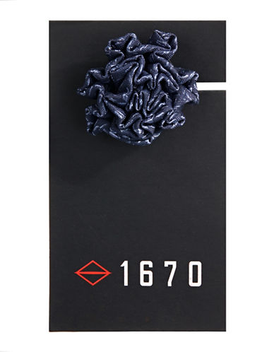 1670 Flower Lapel Pin-BLUE-One Size