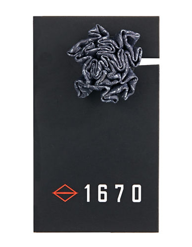 1670 Flower Lapel Pin-GREY-One Size