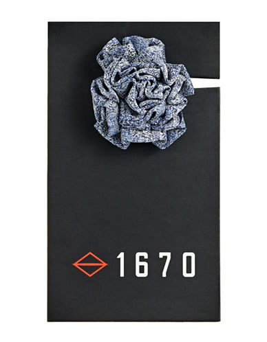 1670 Solid Flower Lapel Pin-BLUE-One Size