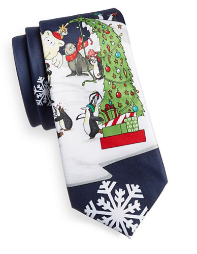1670 Graphic Print Necktie-BLACK-One Size