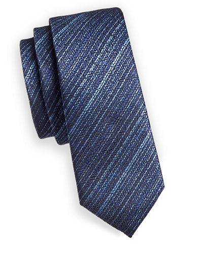 1670 Stripe Slim Tie-BLUE-One Size