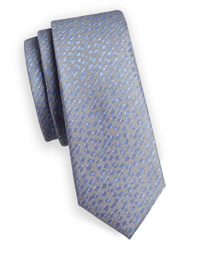 1670 Dots Slim Tie-BLUE-One Size