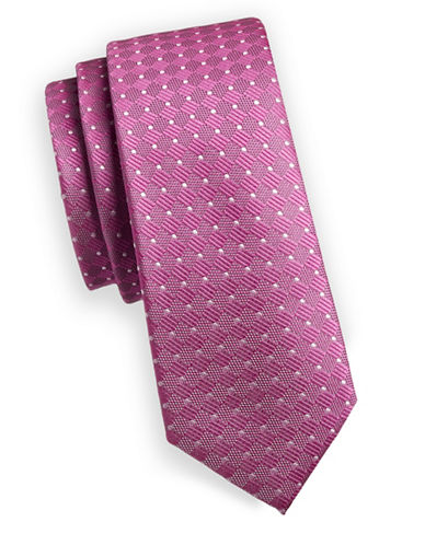1670 Dot Slim Tie-PINK-One Size