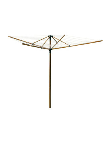 Greenway Home Products Large Outdoor Bamboo Rotary Clothesline-BROWN-One Size