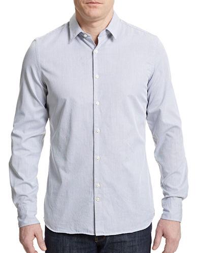 J. Lindeberg Washed Dobby Weave Dress Shirt-BLACK-Small