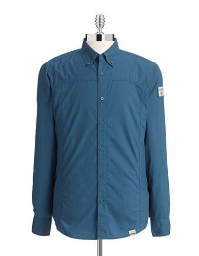 Jeep Long Sleeve Shirt-DARK DENIM-Large