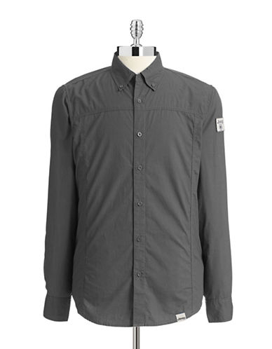Jeep Long Sleeve Shirt-DARK GREY-Small