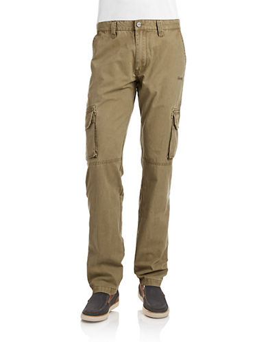 Jeep Man Heavy Cargo Trousers-DARK GREEN-50