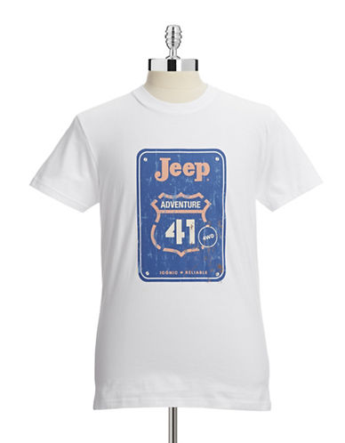 Jeep Road Sign Graphic T-Shirt-WHITE-Large 87920986_WHITE_Large