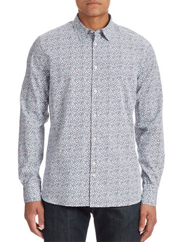 J. Lindeberg Cotton Print Shirt-WHITE MULTI-Large