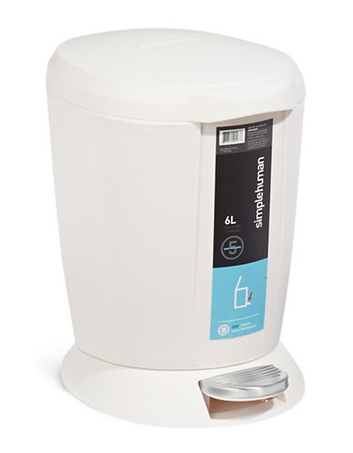Simplehuman Flo Trash Can-WHITE-One Size