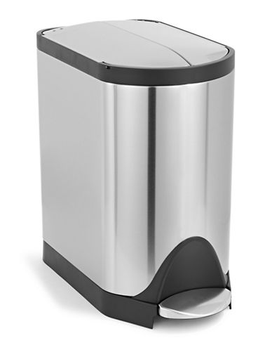 Simplehuman 20L Butterfly Step Trash Can-STEEL-One Size