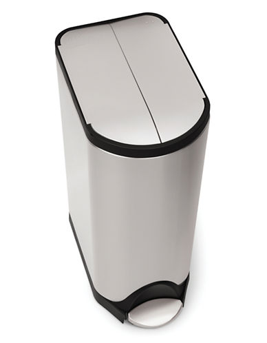 Simplehuman Butterfly Step Can-SILVER-One Size