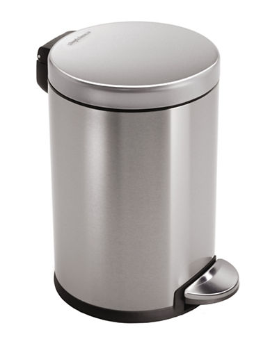Simplehuman Mini round can-STAINLESS STEEL-One Size
