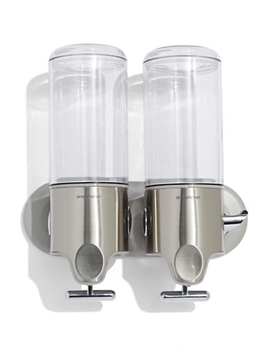 Simplehuman Twin Wall Mount Pumps-STAINLESS STEEL-One Size