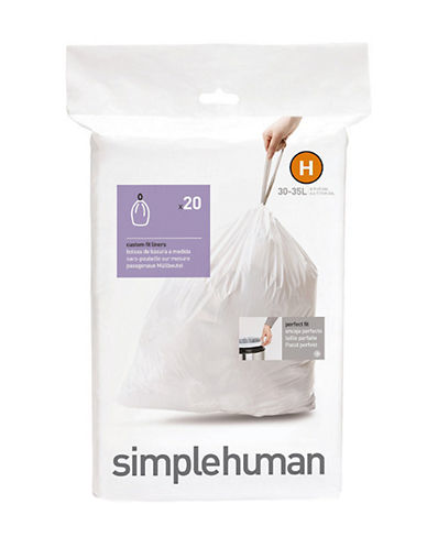 Simplehuman Butterfly Liner-WHITE-One Size