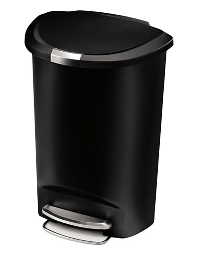 Simplehuman Half-Moon Step Waste Can-BLACK-One Size