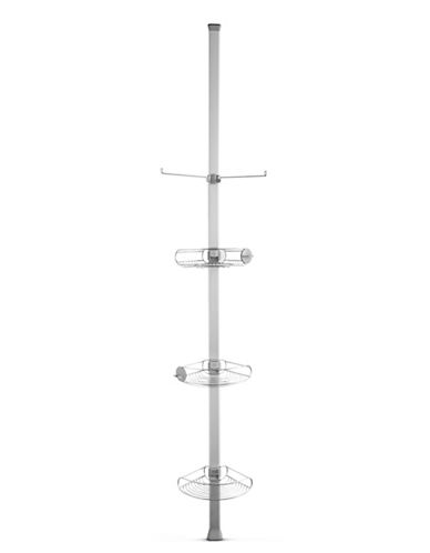 Simplehuman Tension Shower Caddy for High Ceilings-SILVER-One Size