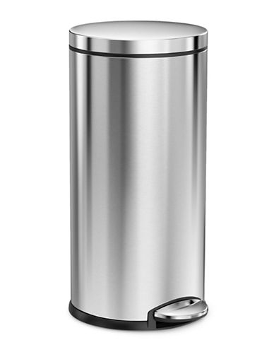 Simplehuman 35L Round Step Can-SILVER-One Size