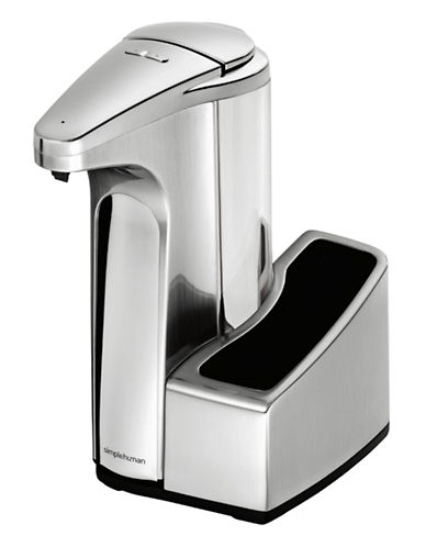 Simplehuman Sensor Pump with Caddy-SILVER-One Size