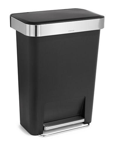 Simplehuman 45L Rectangular Trash Can-BLACK-One Size