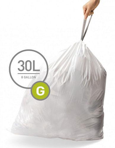 Simplehuman Code G Custom Fit Liners-WHITE-30L