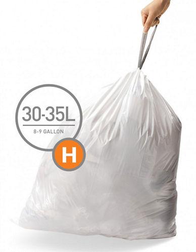 Simplehuman Code H Custom Fit Liners-WHITE-35L