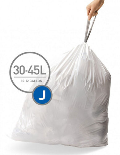Simplehuman Code J Custom Fit Liners-WHITE-45L