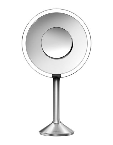 Simplehuman Round Sensor Mirror Pro - 5x, 10x Magnification-STAINLESS-One Size